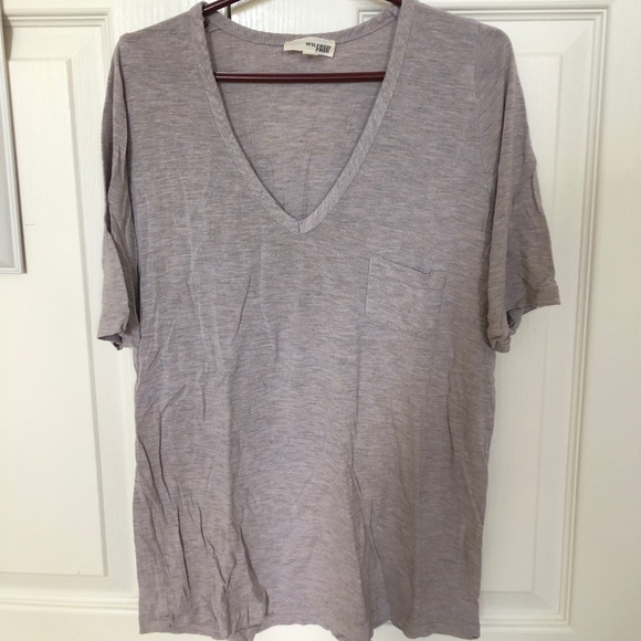 Wilfred Free V-Neck Mauve Pink Soft Tee